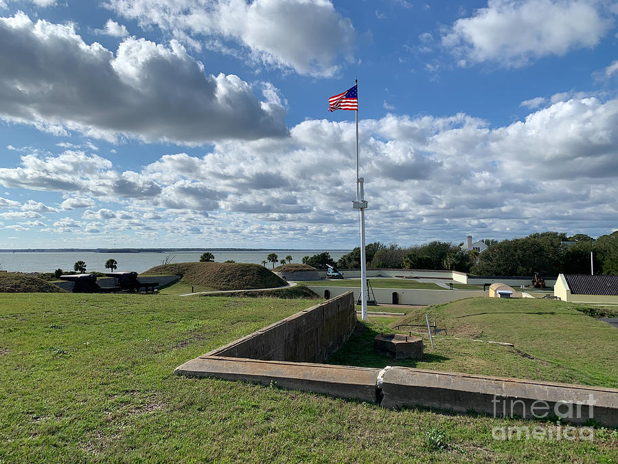 Fort Moultrie - National Park - Sullivan's Island Soth Carolina by Dale Powell