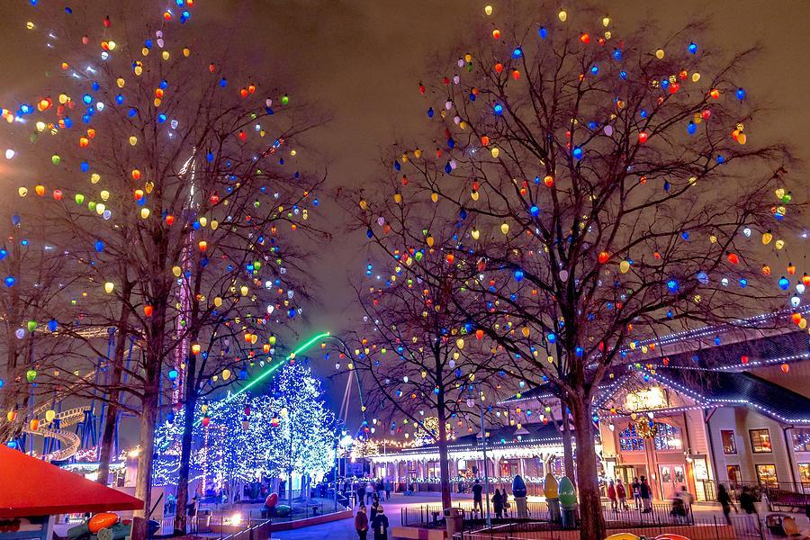 Christmas Time Winterfest Celebration At Carowinds Amusement Par Photograph