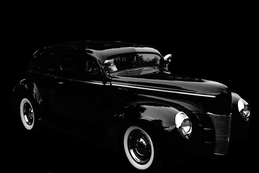 38 Ford Deluxe Black on Black  by Cathy Anderson