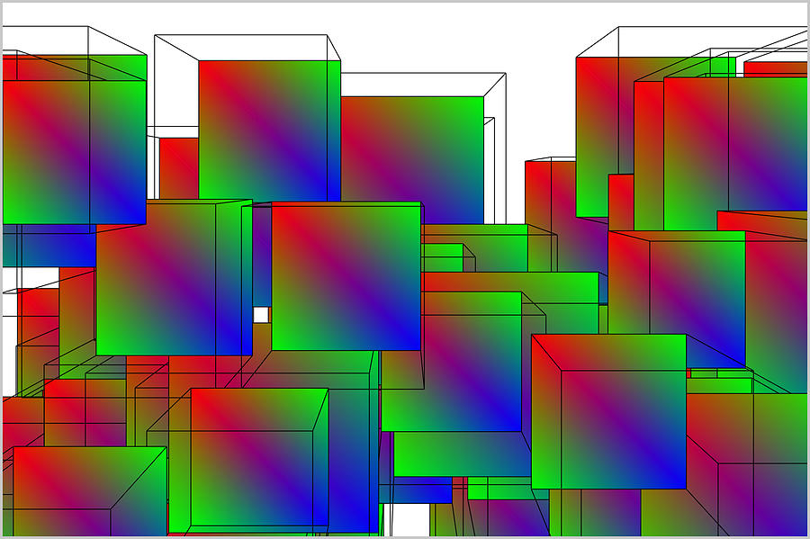 3D boxes by Petri Keckman