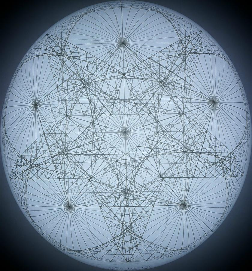 Star Drawing - 3D Quantum Star by Jason Padgett