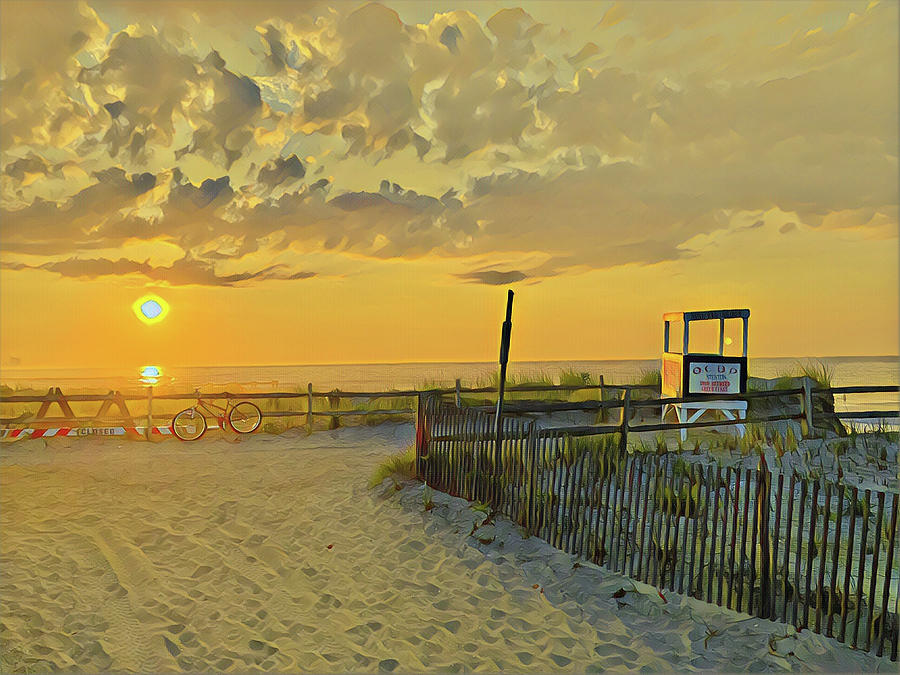 3rd Street Beach Sunrise Digital Art