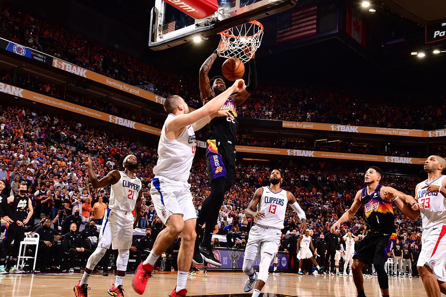 2021 NBA Playoffs - LA Clippers v Phoenix Suns Photograph by Barry Gossage