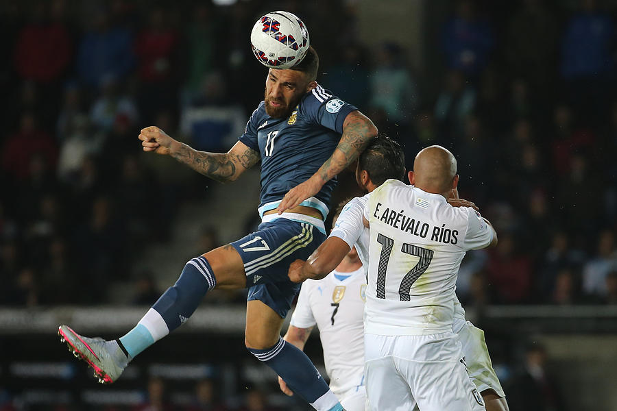 Argentina v Uruguay: Group B - 2015 Copa America Chile Photograph by Raul Sifuentes