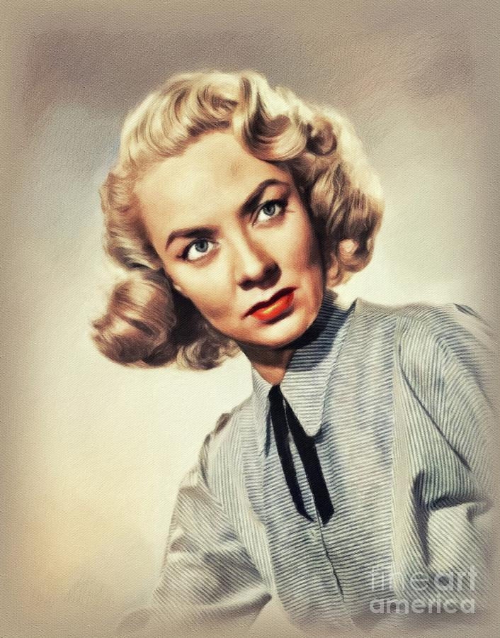 Audrey Totter, Vintage Actress Painting