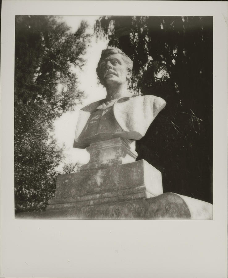 Black and White Polaroid 600 Spring Grove Cemetery Cincinnati Ohio  by Dave Morgan