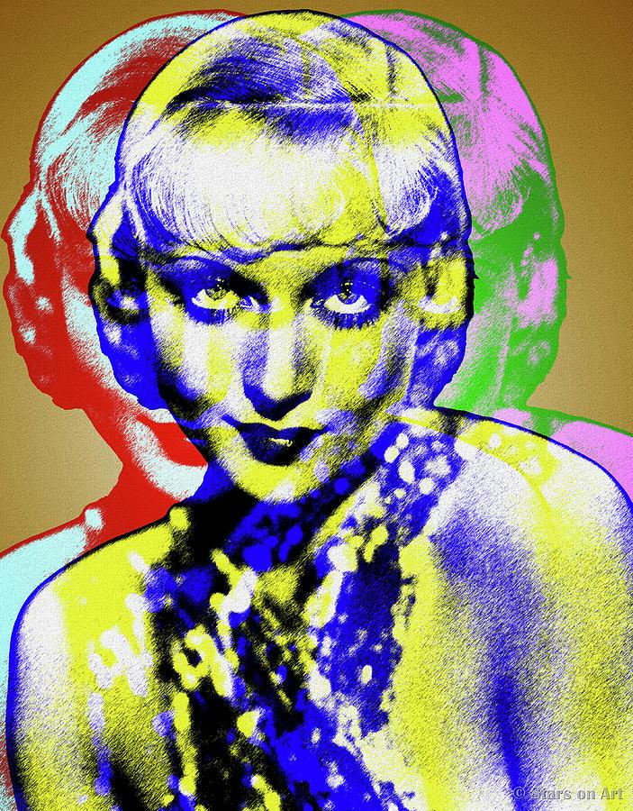 Carole Lombard Digital Art