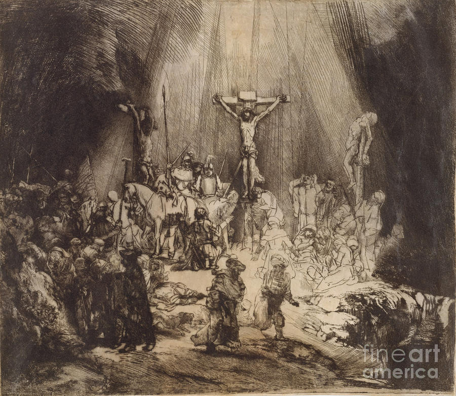 Christ Crucified Between The Two Thieves The Three Crosses