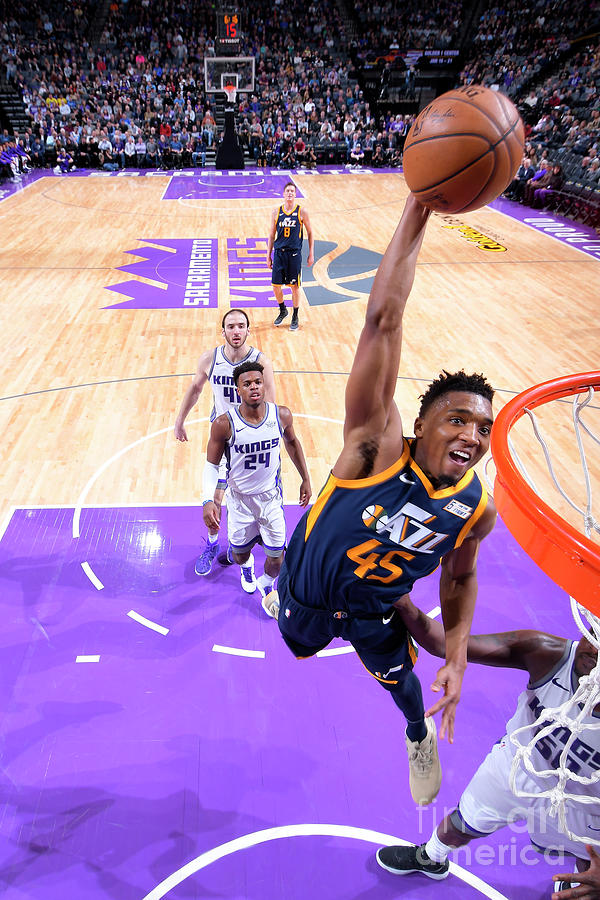 Donovan Mitchell Photograph by Rocky Widner