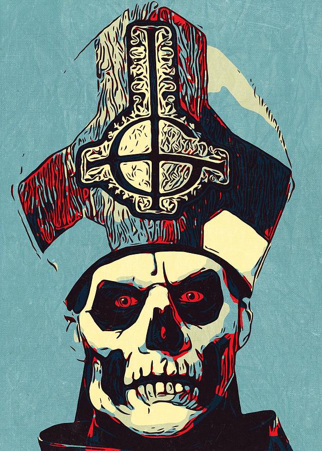 Papa Emeritus III Original Art Poster Print Ghost B.C