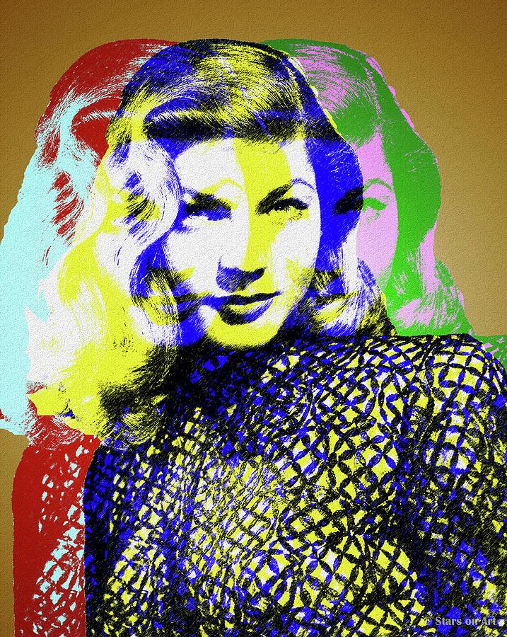 Lauren Bacall Digital Art
