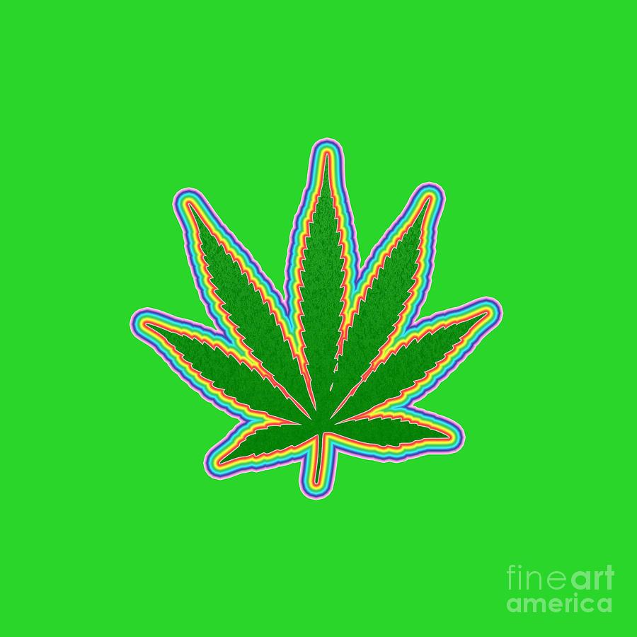 Marijuana Leaf Digital Art