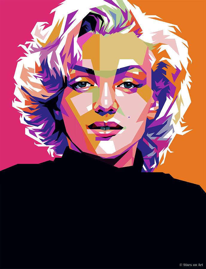 Marilyn Painting - Marilyn Monroe by Stars on Art