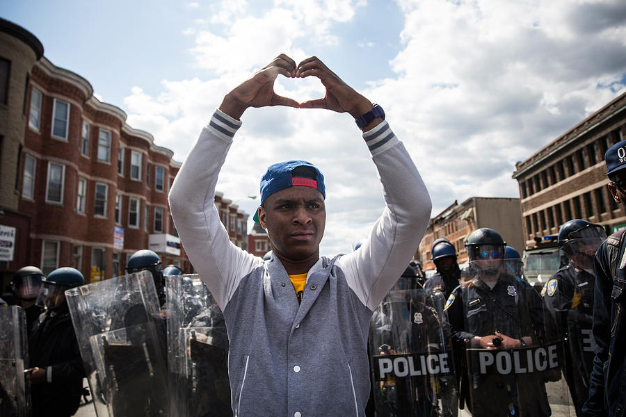 National Guard Activated To Calm Tensions In Baltimore In Wake Of Riots After Death Of Freddie Gray Photograph by Andrew Burton
