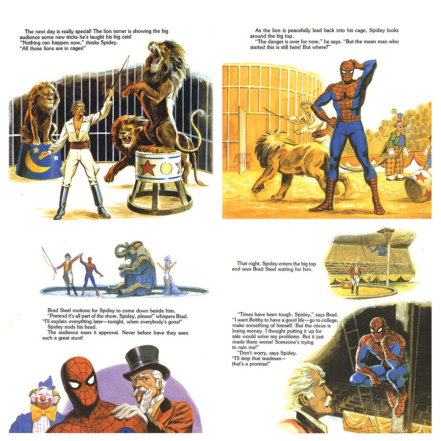 Spiderman Painting - 4 pages of Spidey Comic by Harold Shull