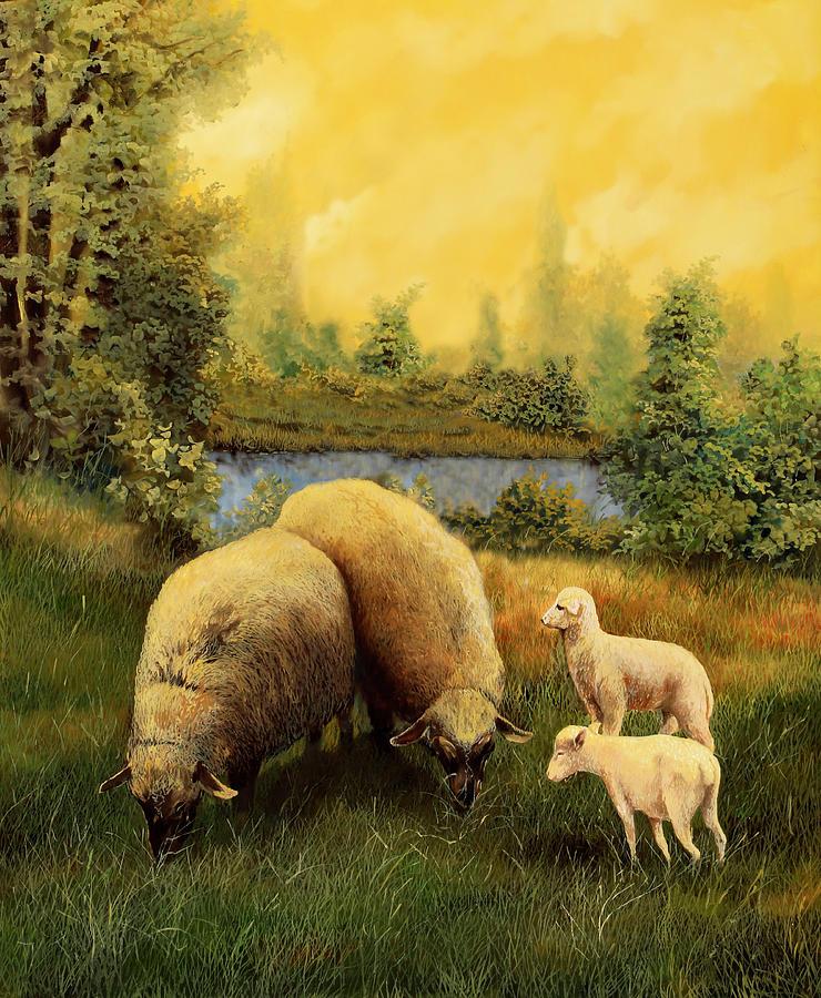 4 Pecore Painting