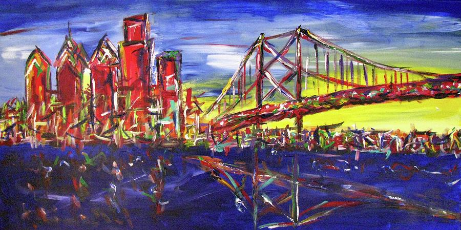 Philly Painting - Philly Skyline BFB by Britt Miller