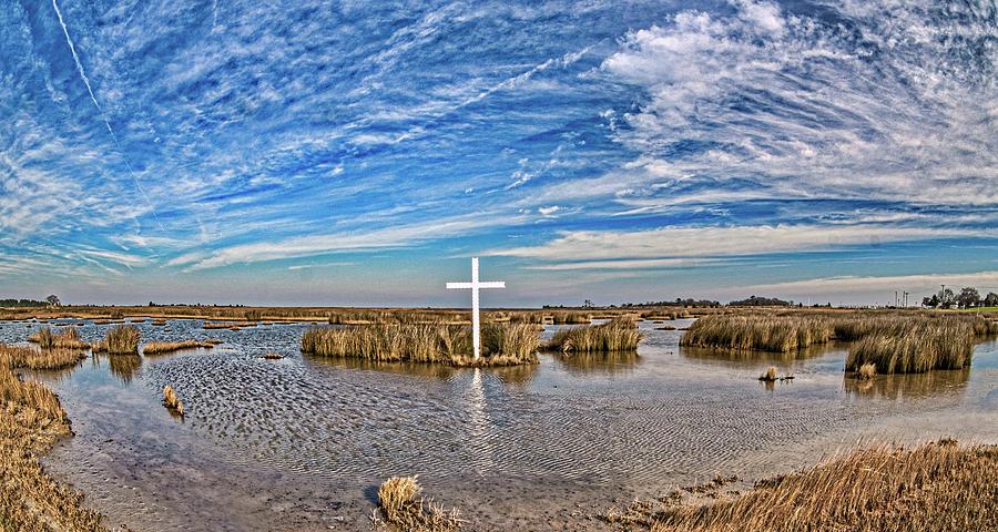 Poquoson Marsh Cross Photograph