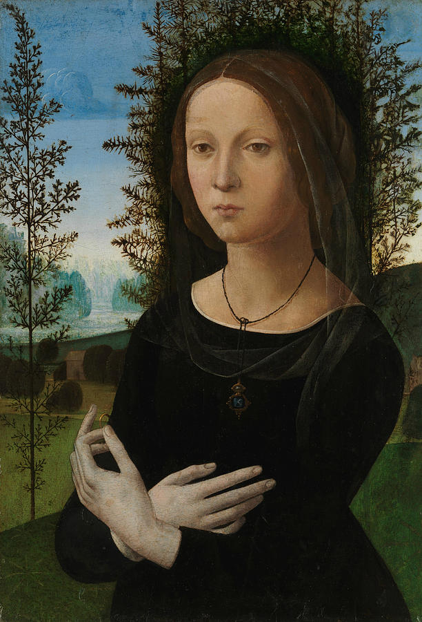 Portrait of a Young Woman by Lorenzo di Credi