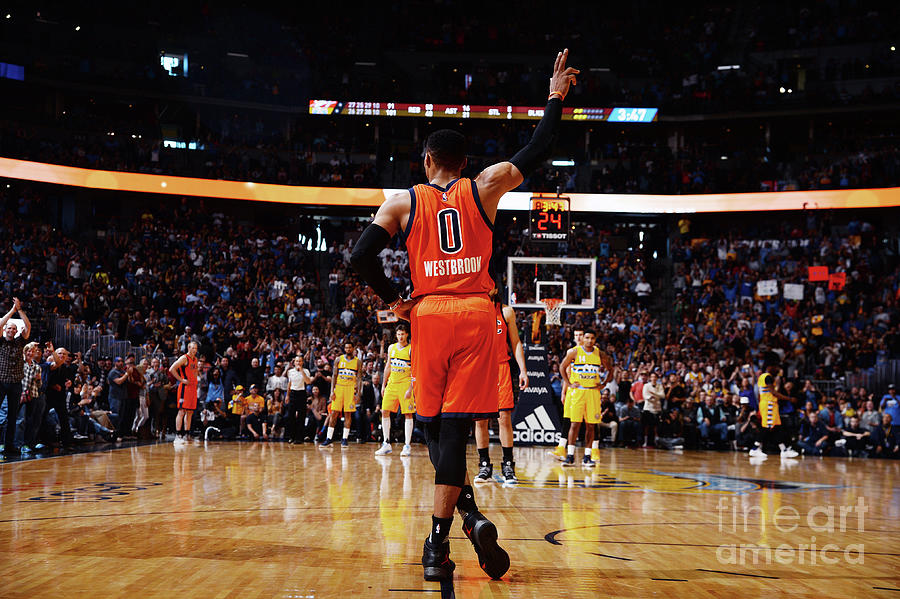 Russell Westbrook Photograph by Bart Young