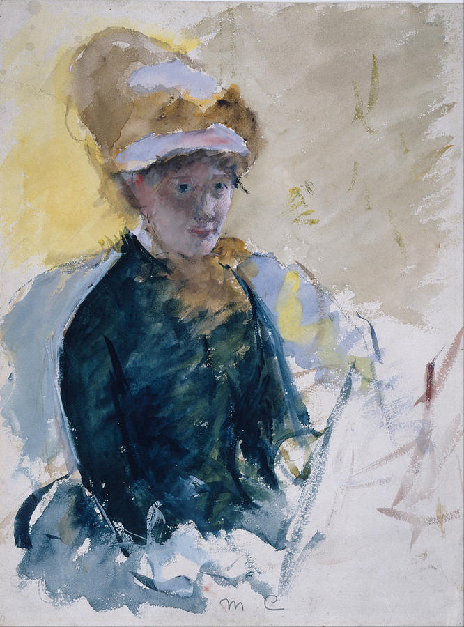 Self-portrait Pastel by Mary Cassatt