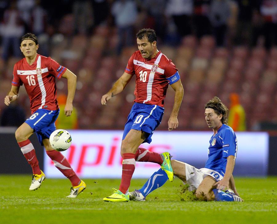 Serbia v Italy - EURO 2012 Qualifier Photograph by Claudio Villa
