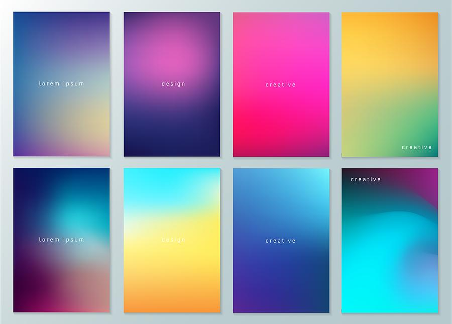 Set of Abstract Blur Defocused Colorful Background. Abstract design template for brochures, flyers, magazine, business card, branding, banners, headers, book covers, notebooks background vector Drawing by Ajwad Creative