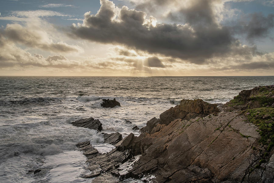 Stunning Landscape Image Of View From Hartland Quay In Devon Eng Photograph
