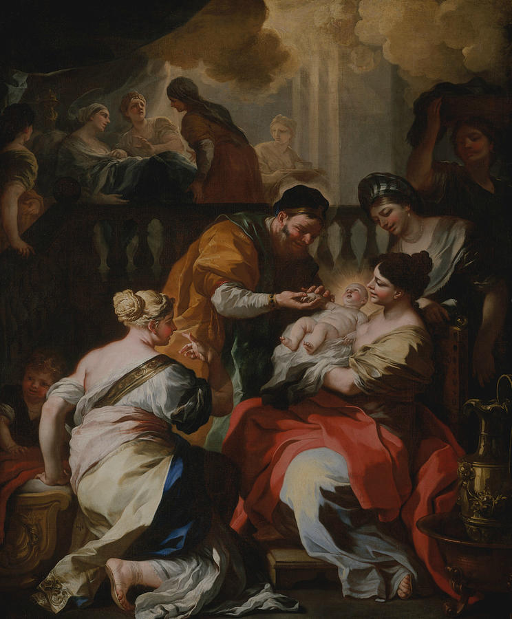 The Birth of the Virgin by Francesco Solimena