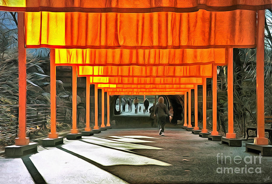 The Gates Art Installation In Central Park By Artists Christo An Photograph