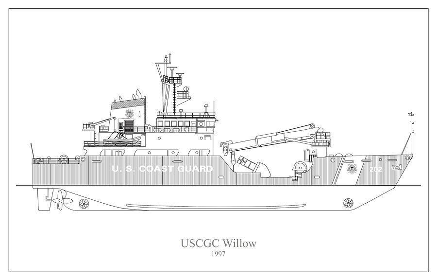w03 - United States Coast Guard Cutter Willow wlb-202 by JESP Art and Decor