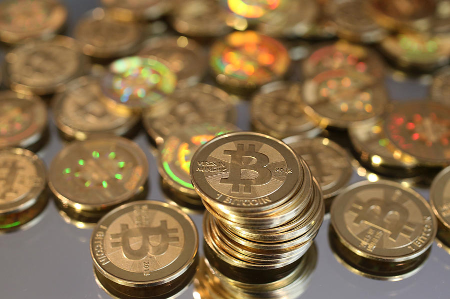 Utah Software Engineer Mints Physical Bitcoins Photograph by George Frey