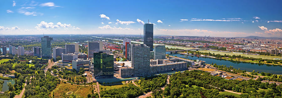 Vienna skyline and cityscape aerial panoramic view by Brch Photography