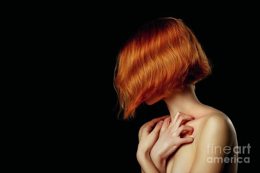 Woman In Dark Photograph