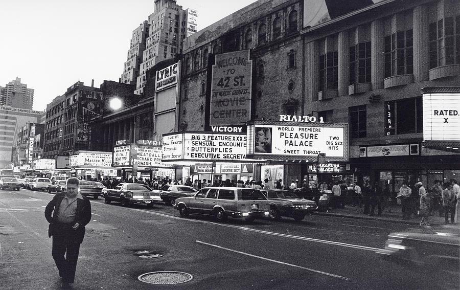 42nd Street NYC 1982 by Steven Huszar