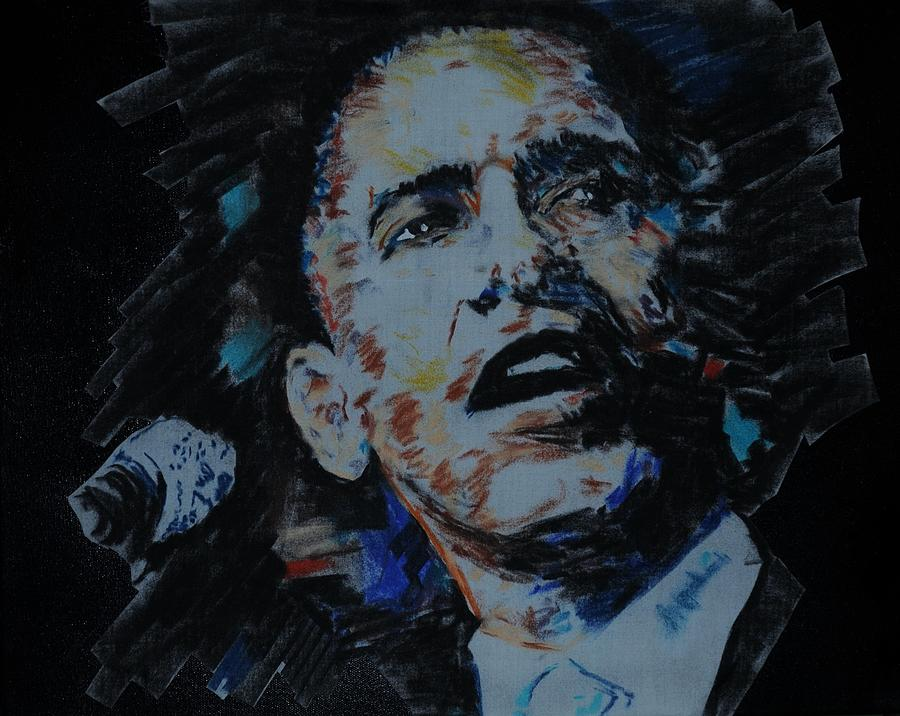 United States President Pastel - 44th USA President by Leon Hollins III