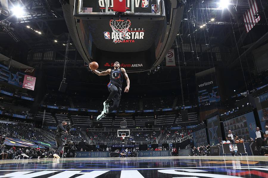 2021 NBA All-Star - AT&T Slam Dunk Contest Photograph by Nathaniel S. Butler