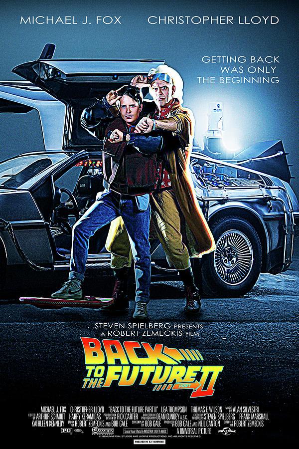 Back To The Future Part Ii 1989 Digital Art By Geek N Rock