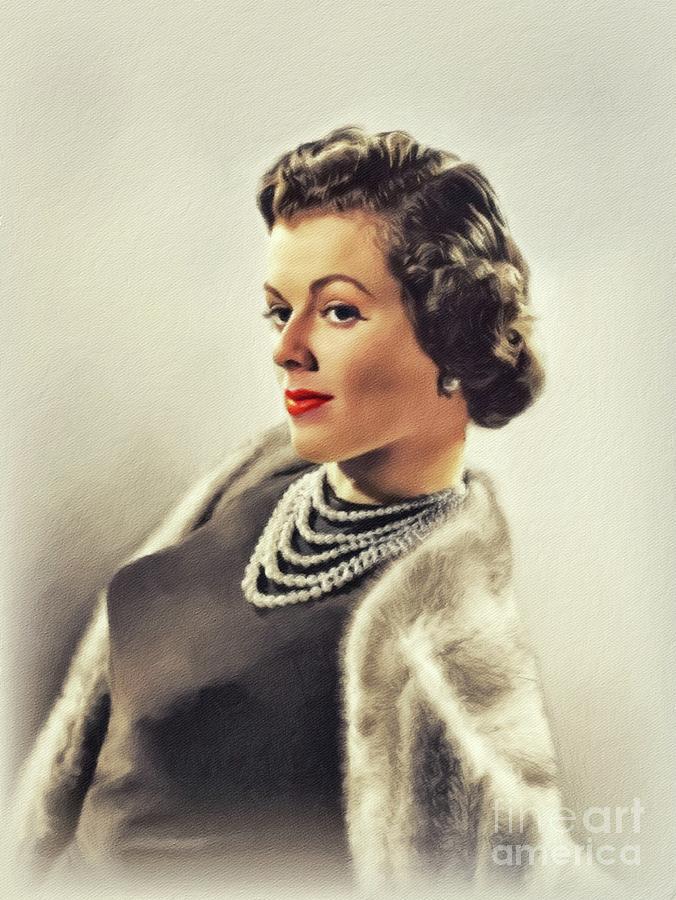 Barbara Hale, Vintage Actress Painting