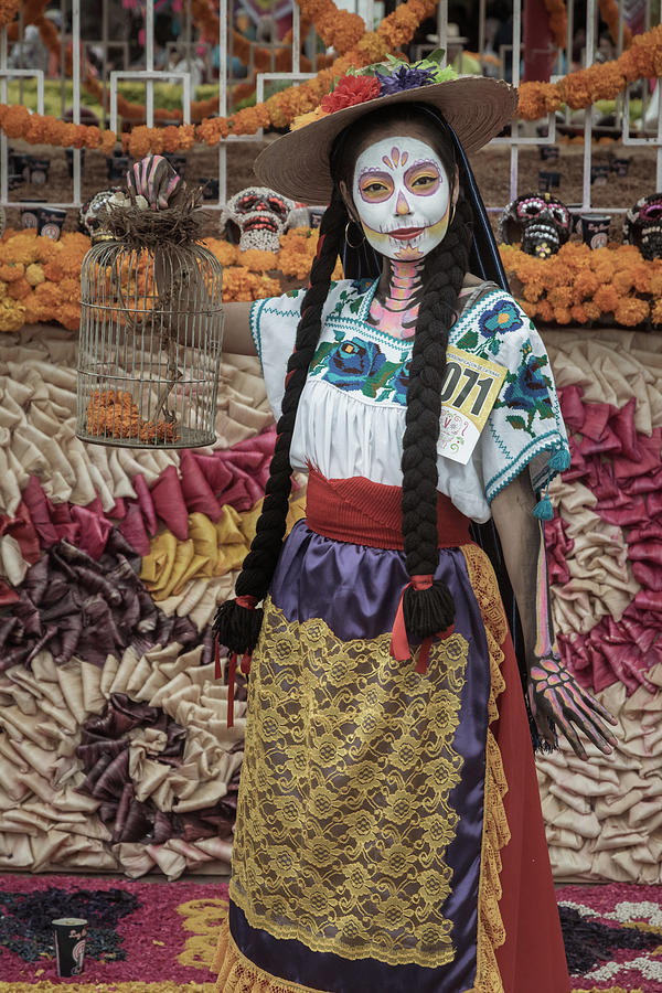 Catrina Photograph - Catrina on the Day of the Dead in Mexico by Dane Strom