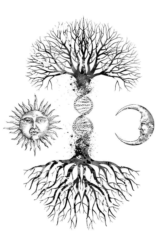 Dna Tree Digital Art - DNA Tree by Erzebet S