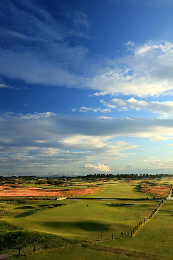 General Views of the Championship Course at Carnoustie Golf Links Photograph by David Cannon