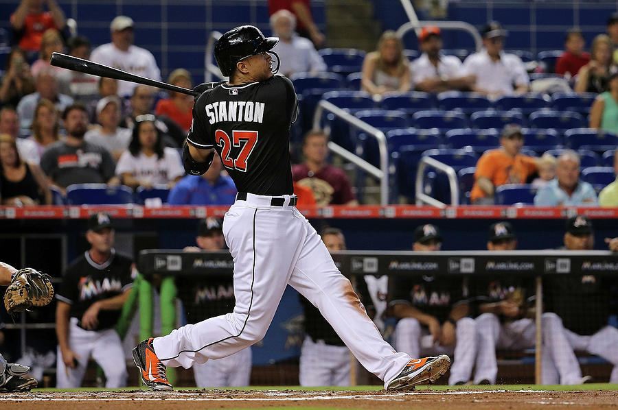 Giancarlo Stanton Photograph by Mike Ehrmann