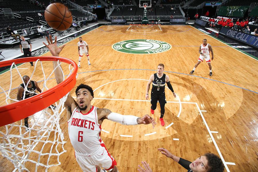 Houston Rockets v Milwaukee Bucks Photograph by Gary Dineen