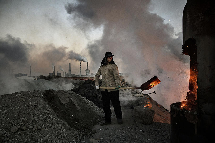 Illegal Steel Factories Dodge China Emissions Laws Photograph by Kevin Frayer