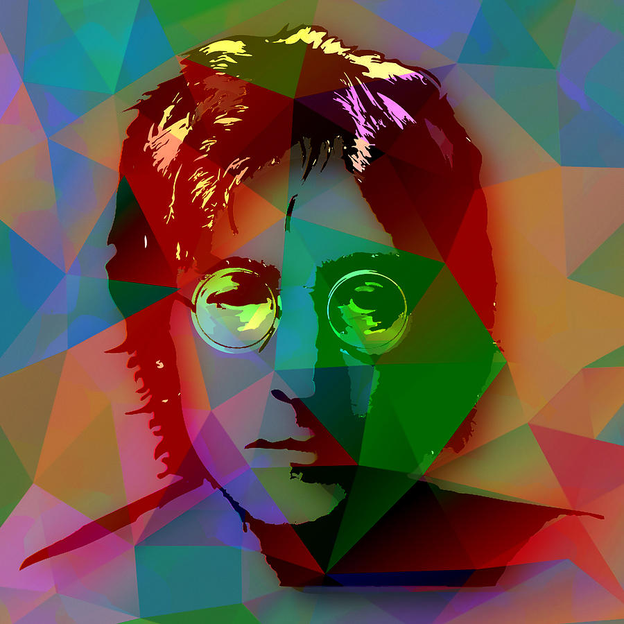 Beatles Mixed Media - John Lennon The Beatles 5 by Marvin Blaine