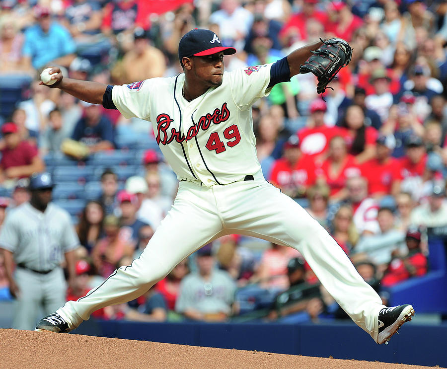 Julio Teheran Photograph by Scott Cunningham