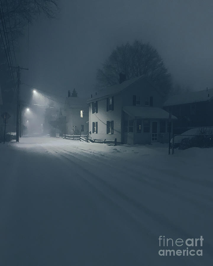 Snow Photograph - Snowy Night  6 by HD Connelly