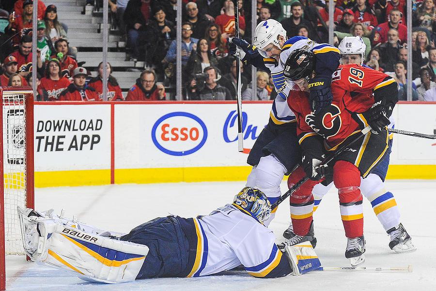 St Louis Blues v Calgary Flames Photograph by Derek Leung