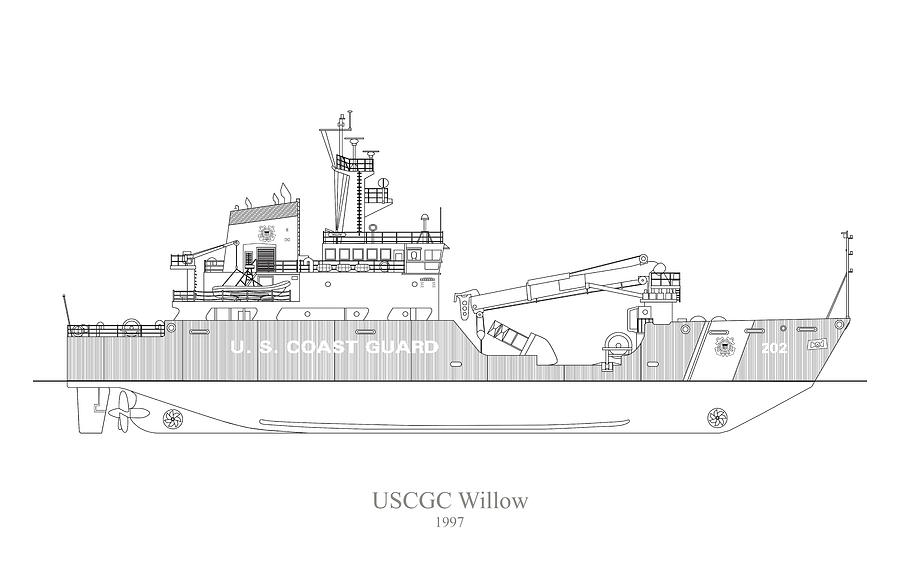 w02 - United States Coast Guard Cutter Willow wlb-202 by JESP Art and Decor